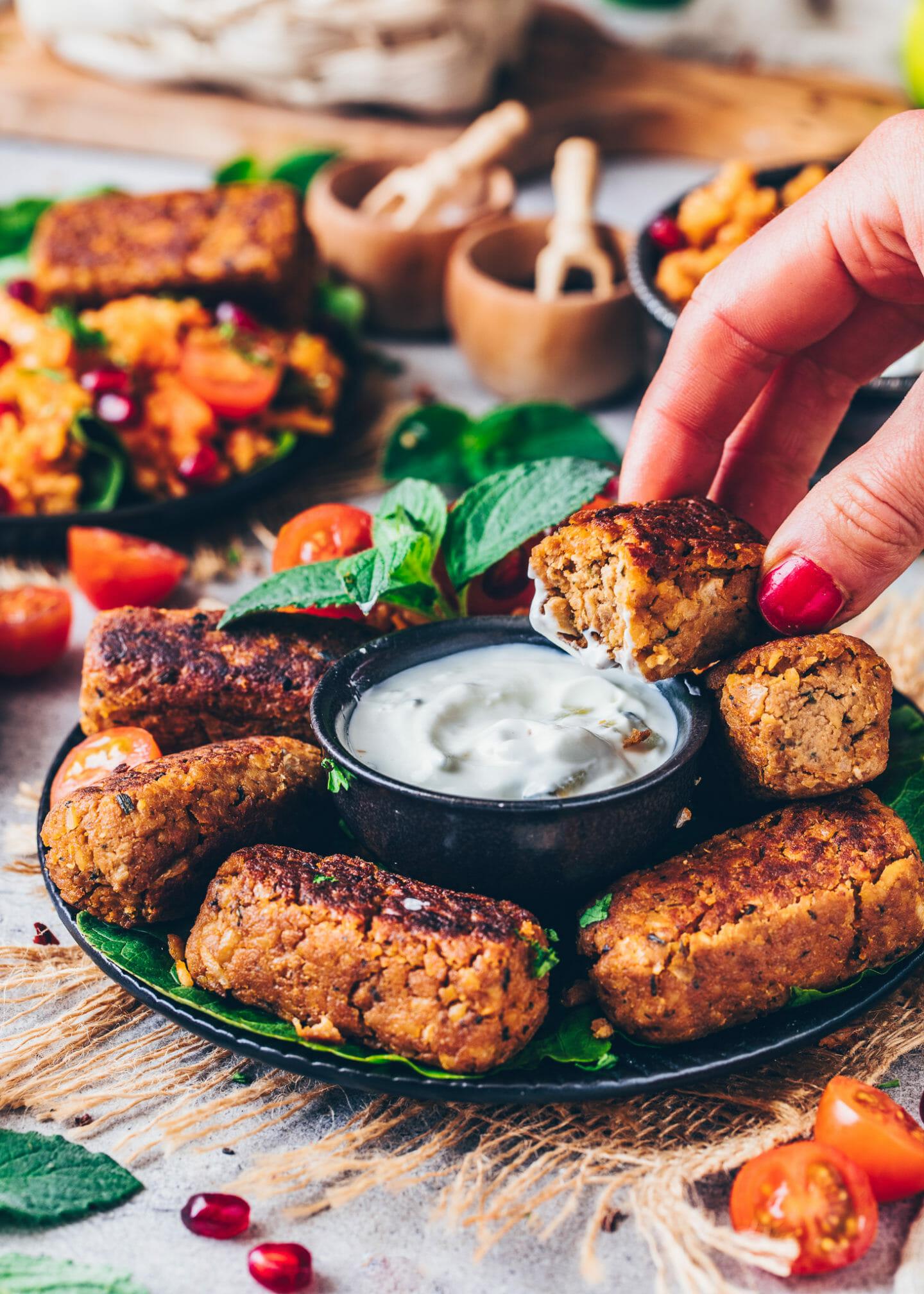Vegan Meat Rolls, Cevapcici