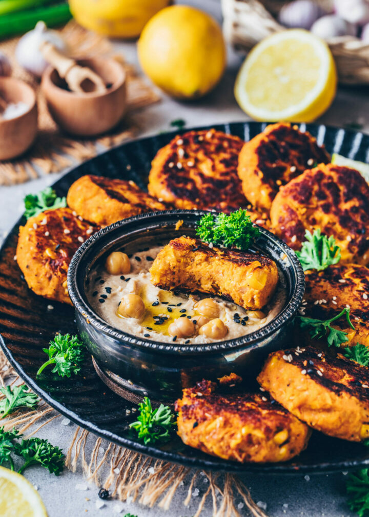 Vegane Süßkartoffel-Falafel