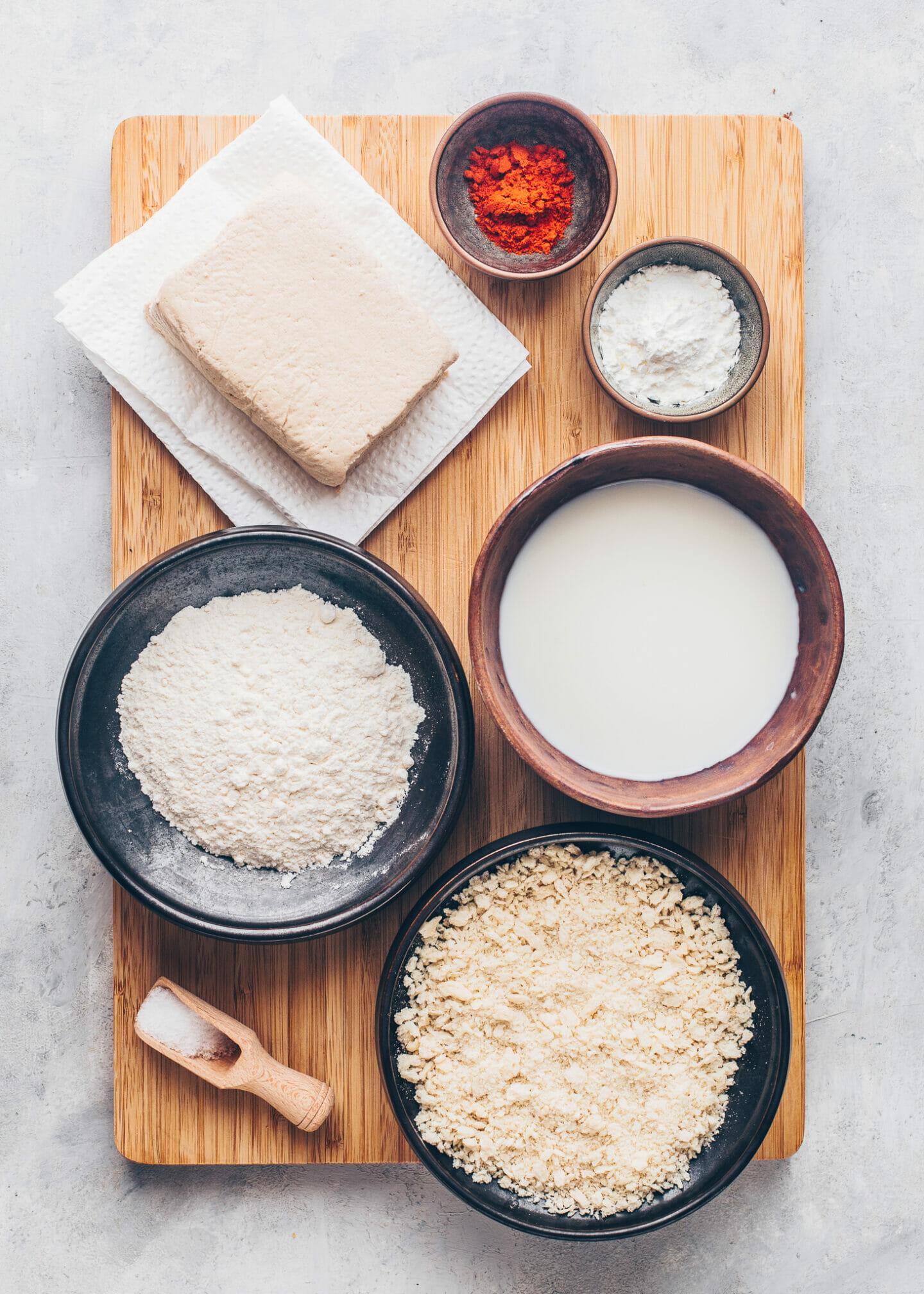 Ingredients for Tofu Breading