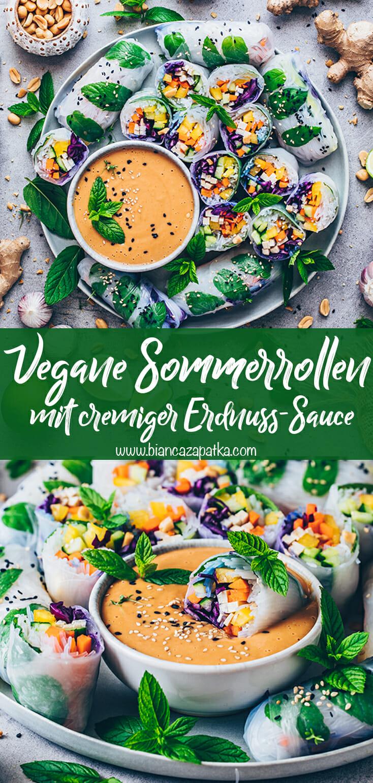 Sommerrollen mit Erdnuss-Sauce