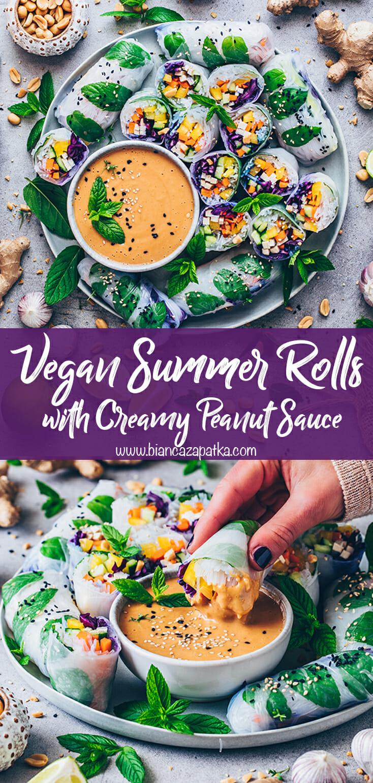 Summer Rolls with Peanut Sauce