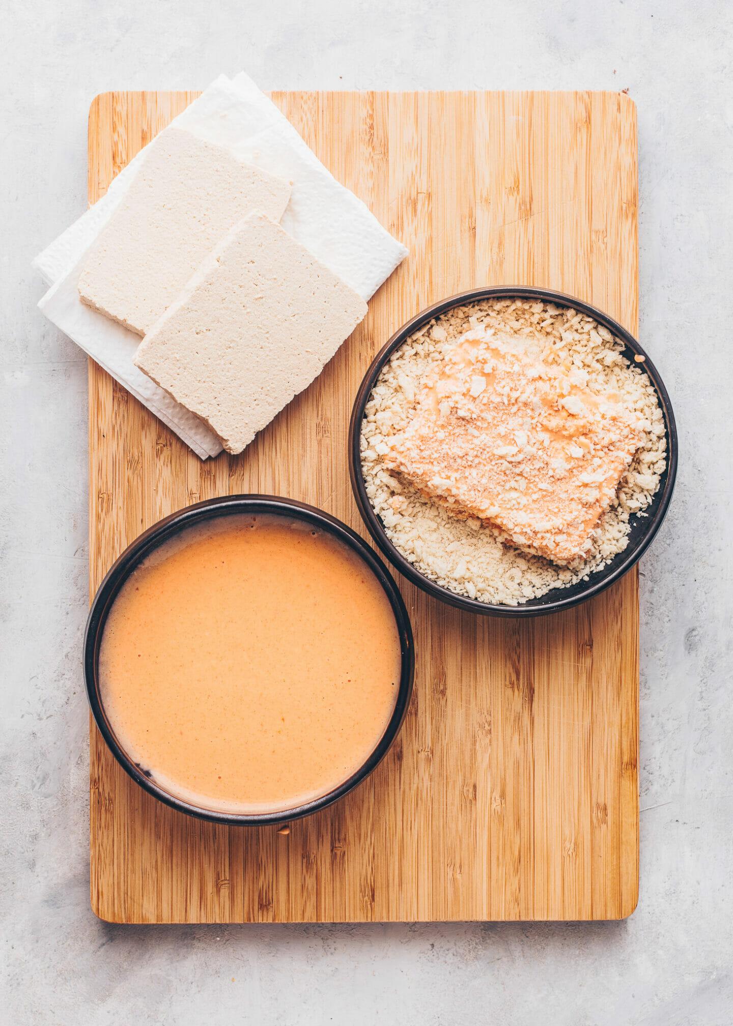How to make Tofu Steaks (Vegan Katsu)