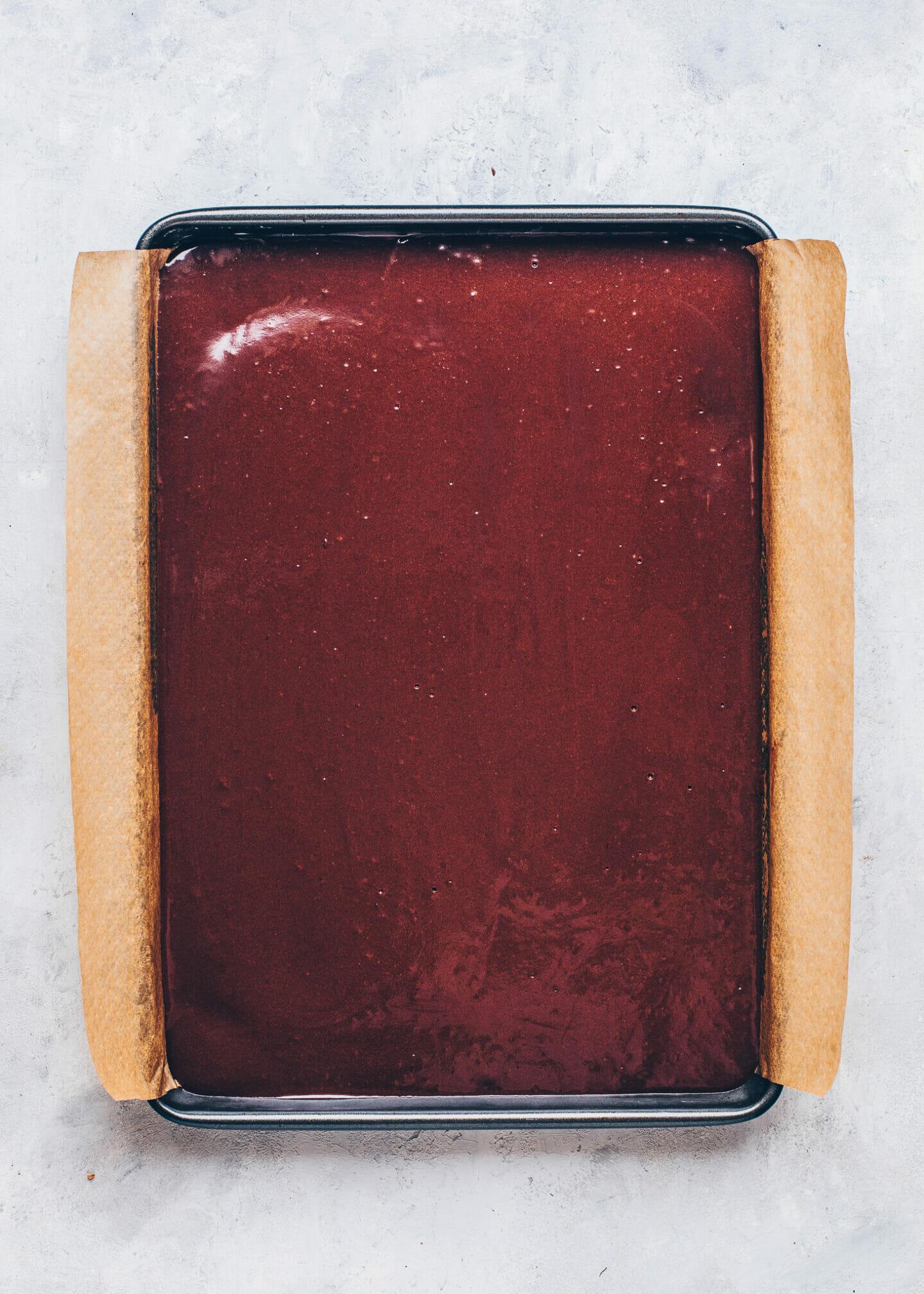 vegan chocolate cake milk slices