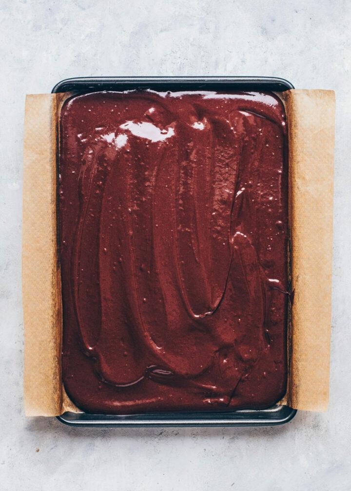 Milchschnitten, Veganer Schoko-Kuchen