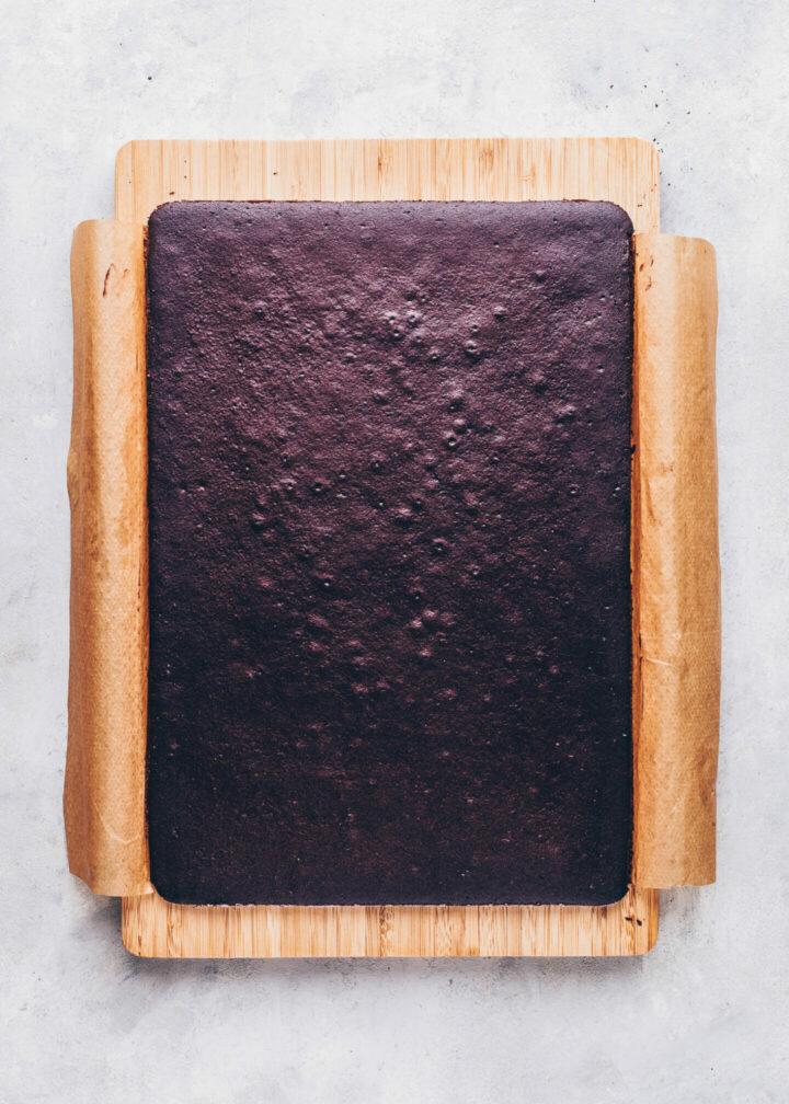 Vegane Milchschnitten (Schoko-Biskuit)