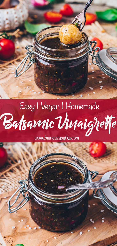 Balsamic Vinaigrette Dressing (Homemade, Easy Recipe)