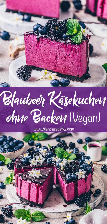Blaubeer-Käsekuchen (Blueberry Cheesecake)