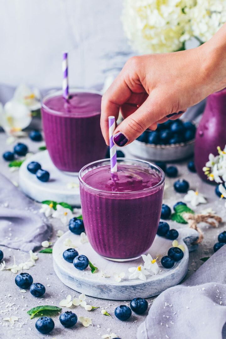 Blaubeer-Smoothie (Einfach, Vegan)
