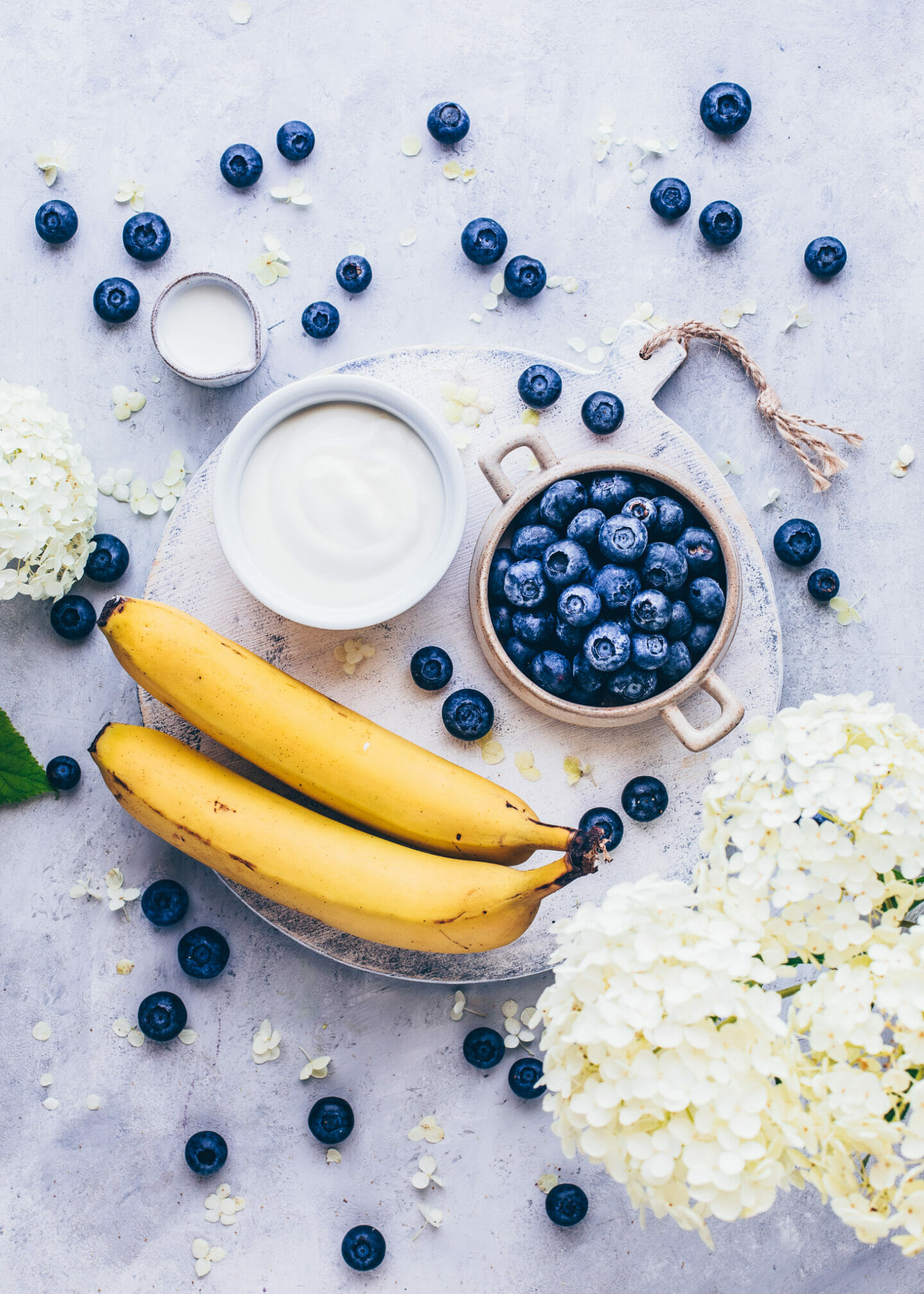 Blueberry Banana Smoothie with Yoghurt
