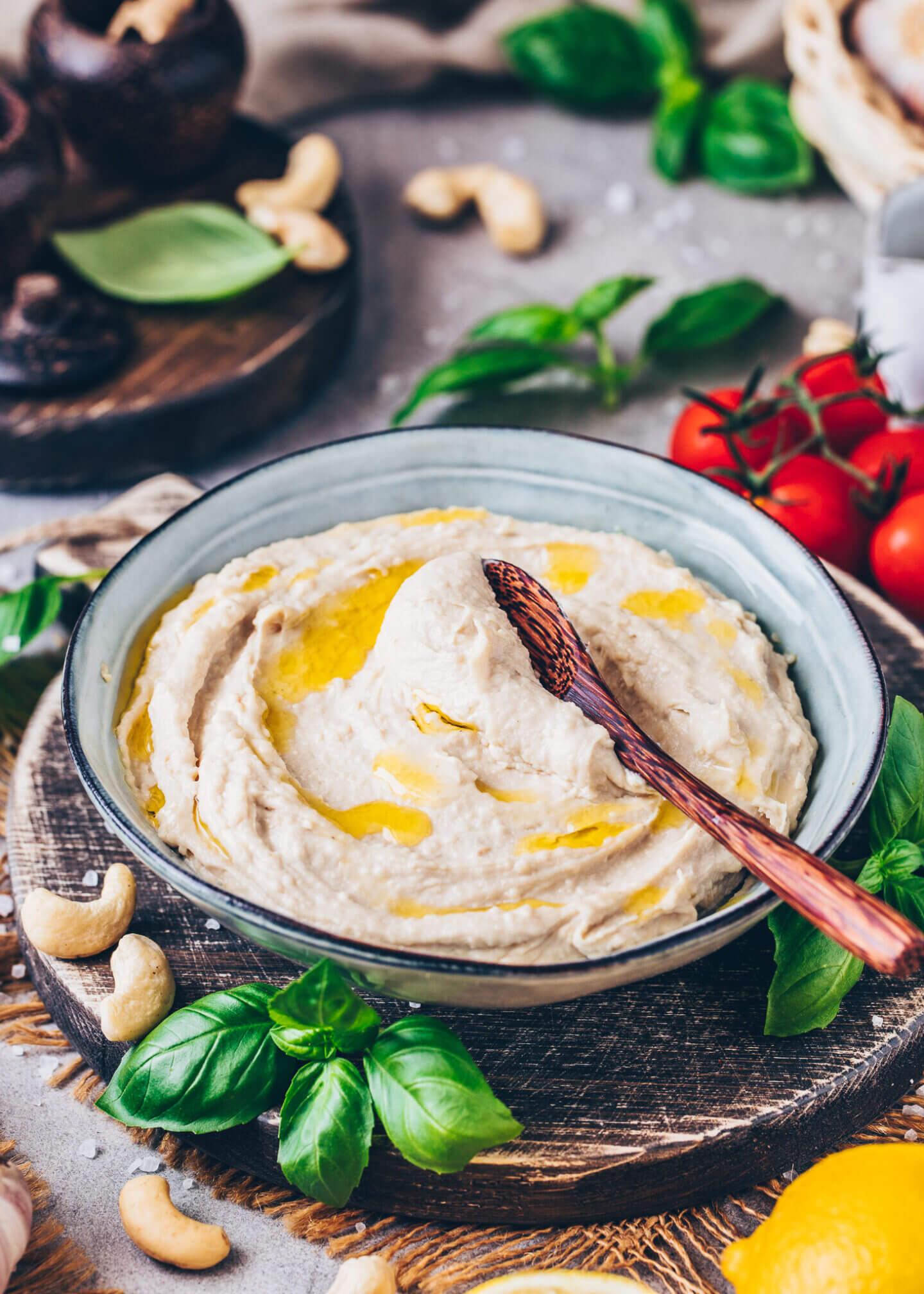 Cashew Ricotta, Vegane Sour Cream, Schmand, Frischkäse