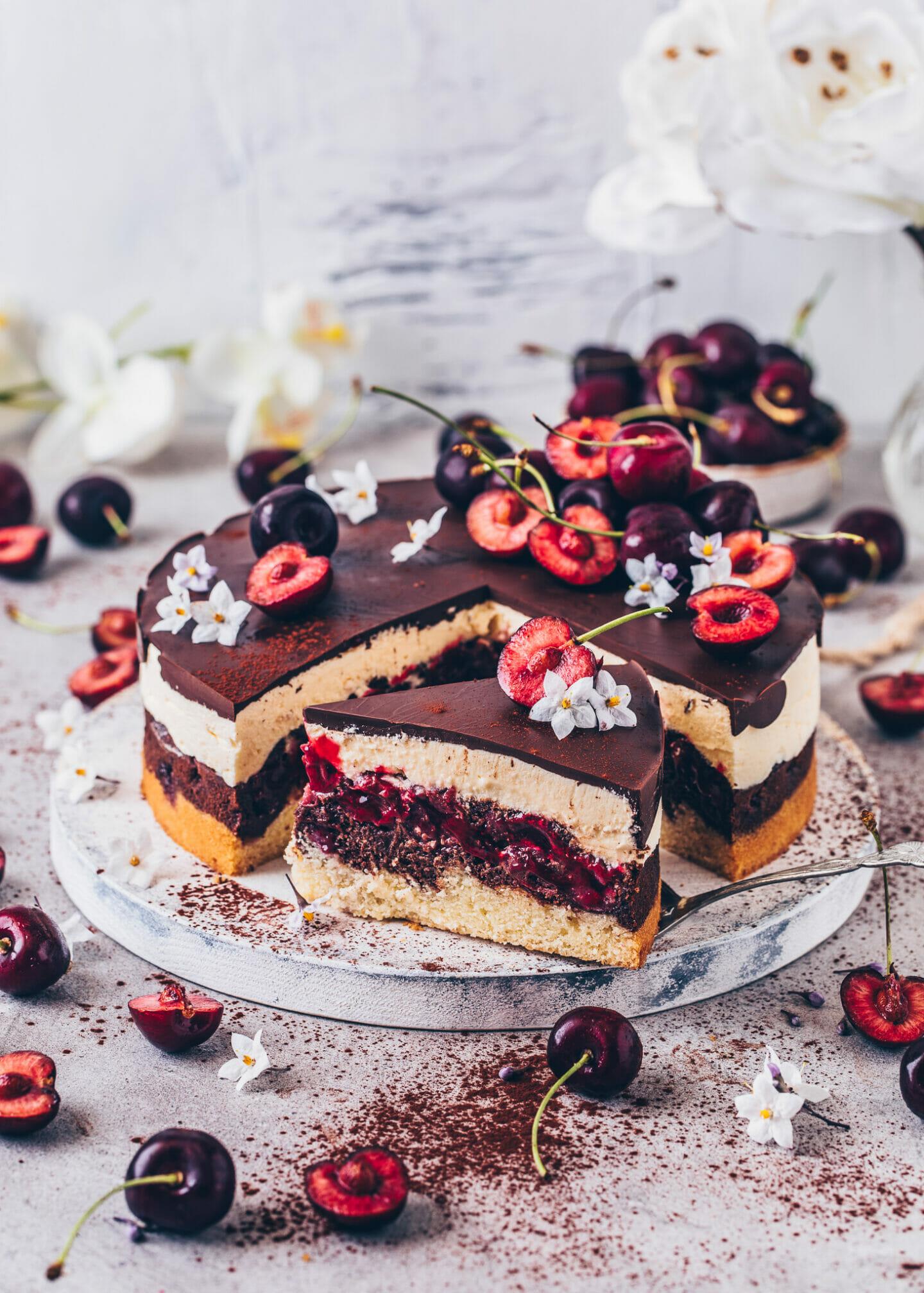 Cherry Chocolate Marble Cake (Vegan Danube Wave)