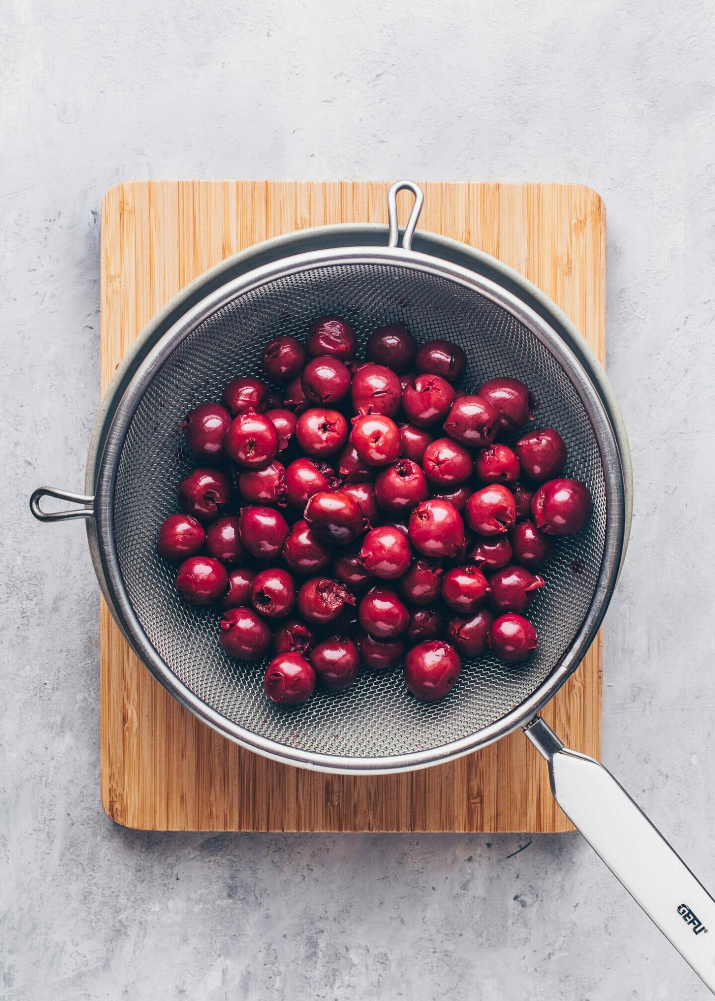 drained cherries