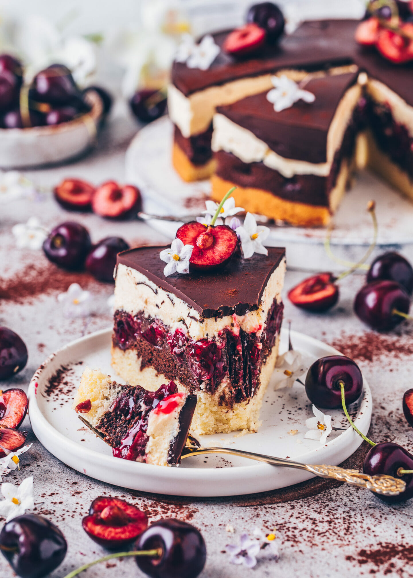 German Danube Wave (Cherry Chocolate Cake)
