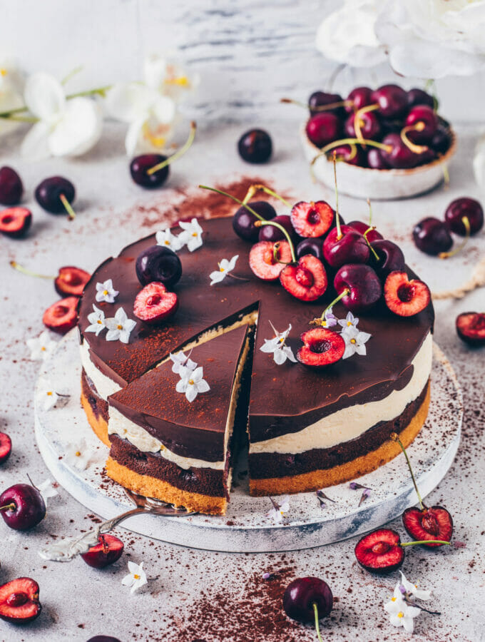 Cherry Chocolate Torte (German Cake)