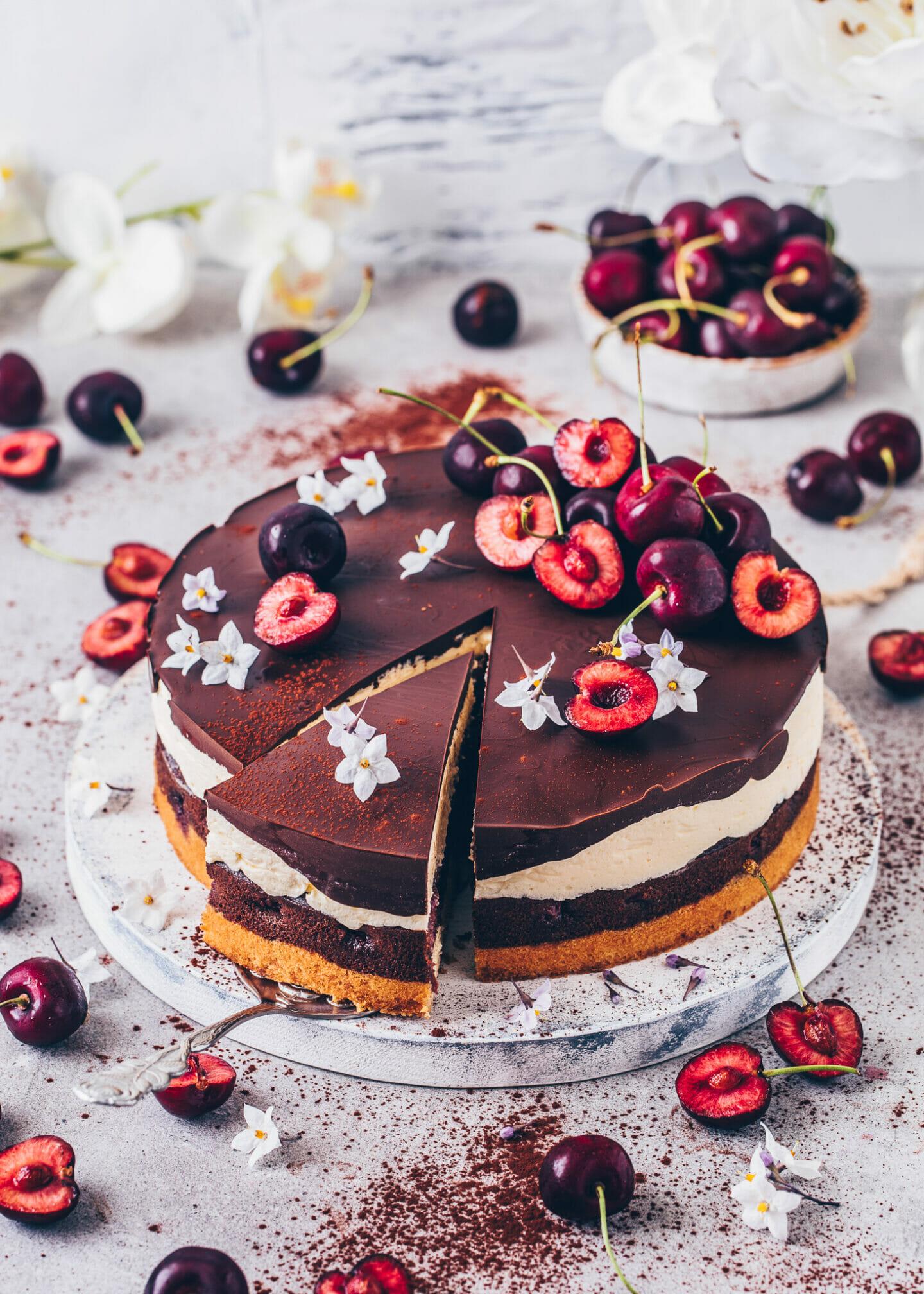 Cherry Chocolate Torte (German Cake)