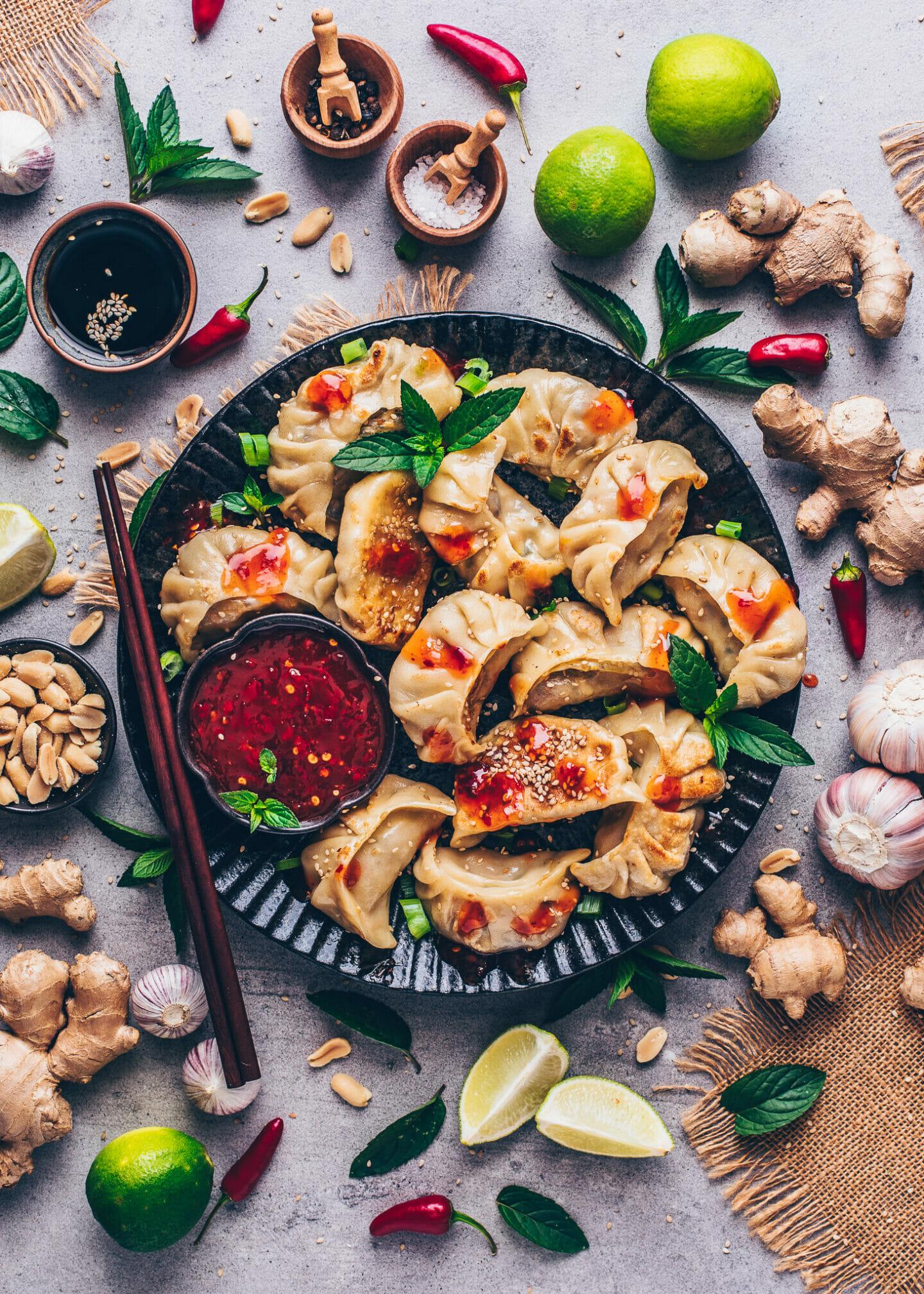 Gyoza Dumplings with Sweet Chili Sauce