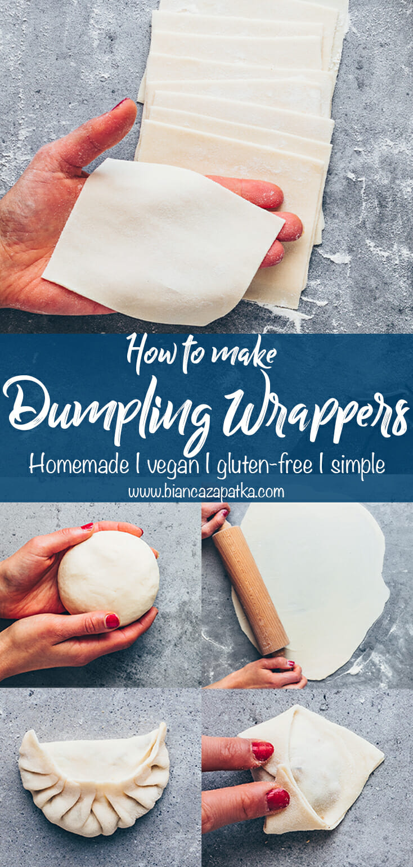 Homemade Dumpling Wrappers - How to make Wontons, Japanese Gyoza, Chinese Dumplings