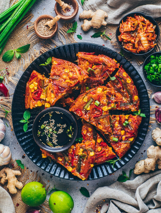 Kimchi Pancakes (Korean Kimchijeon)