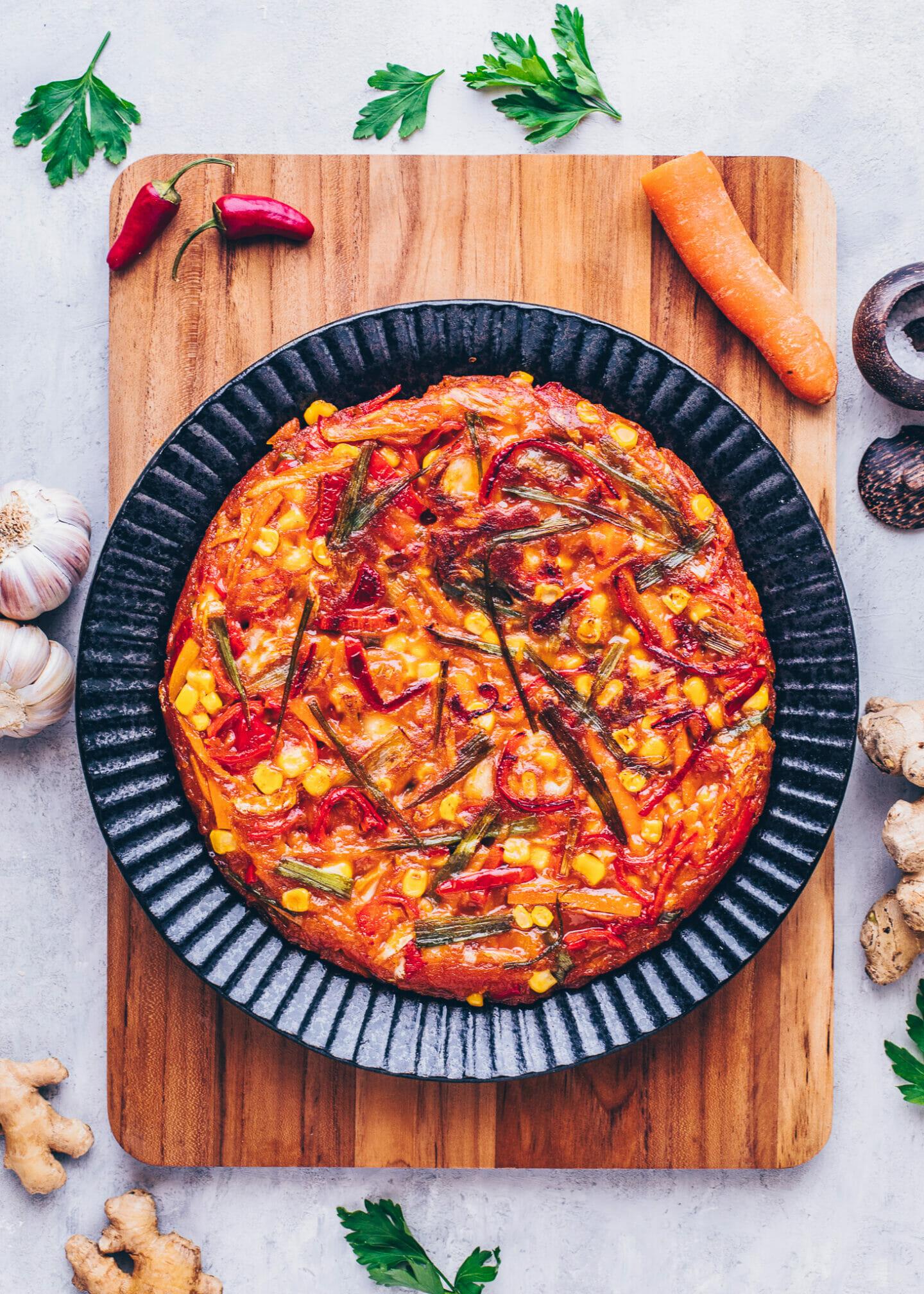 Kimchi-Pfannkuchen (Koreanischer Pancake)