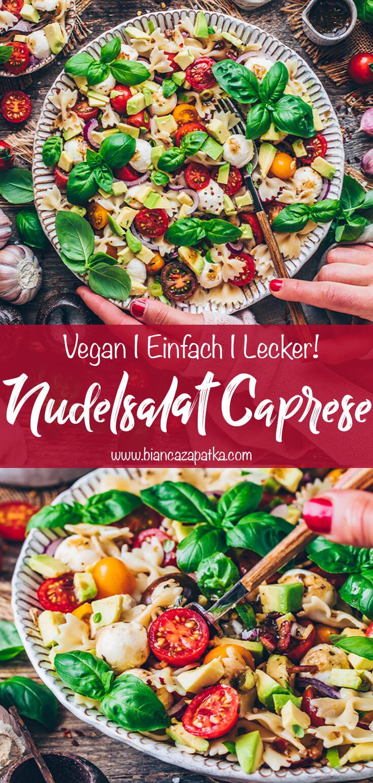 Nudelsalat Caprese (Tomaten-Mozzarella-Salat)