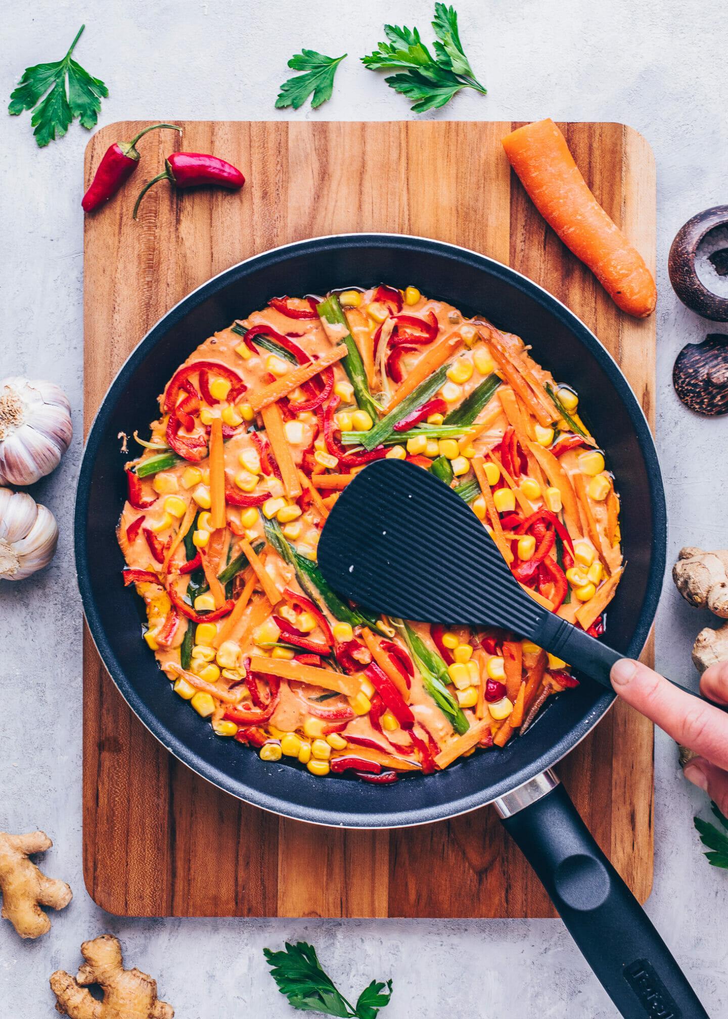 Gemüse-Pfannkuchen mit Kimchi