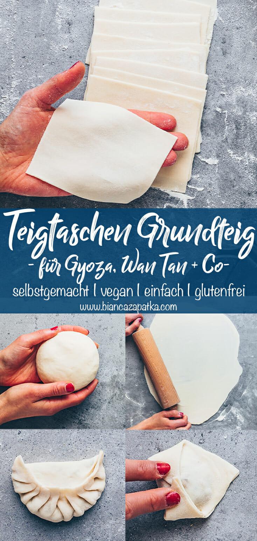 Teigtaschen Rezept - Gyoza, Wan Tan, Dumplings selber machen (Grundrezept, Grundteig)