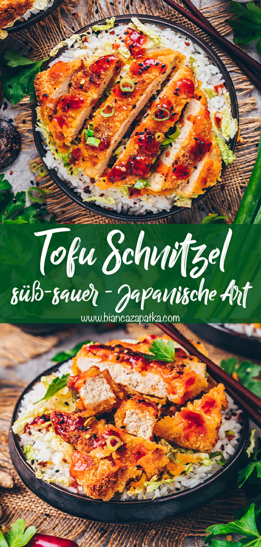 Tofu Schnitzel Süß-Sauer (Japanische Art)