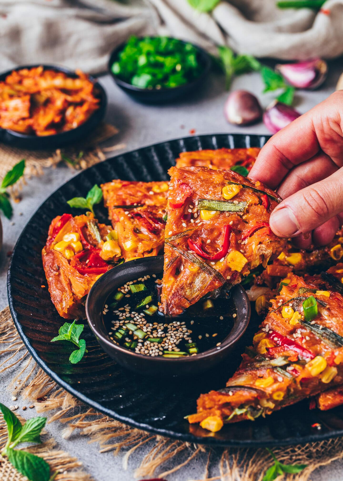 Vegane Kimchi-Pfannkuchen