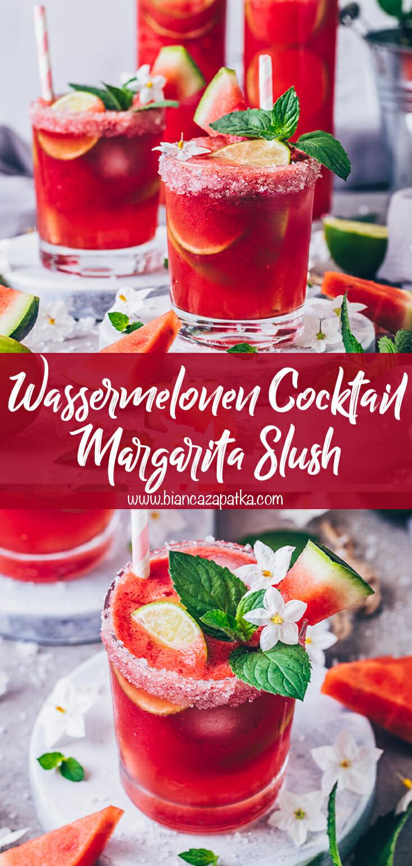 Wassermelonen Margarita Slush Cocktail