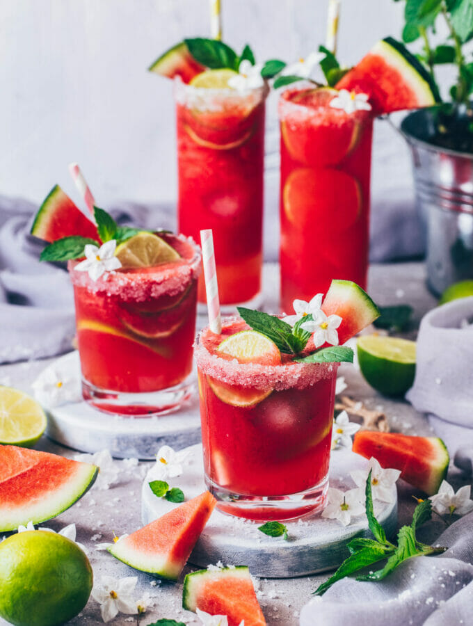 Watermelon Margarita (food photography, food styling)