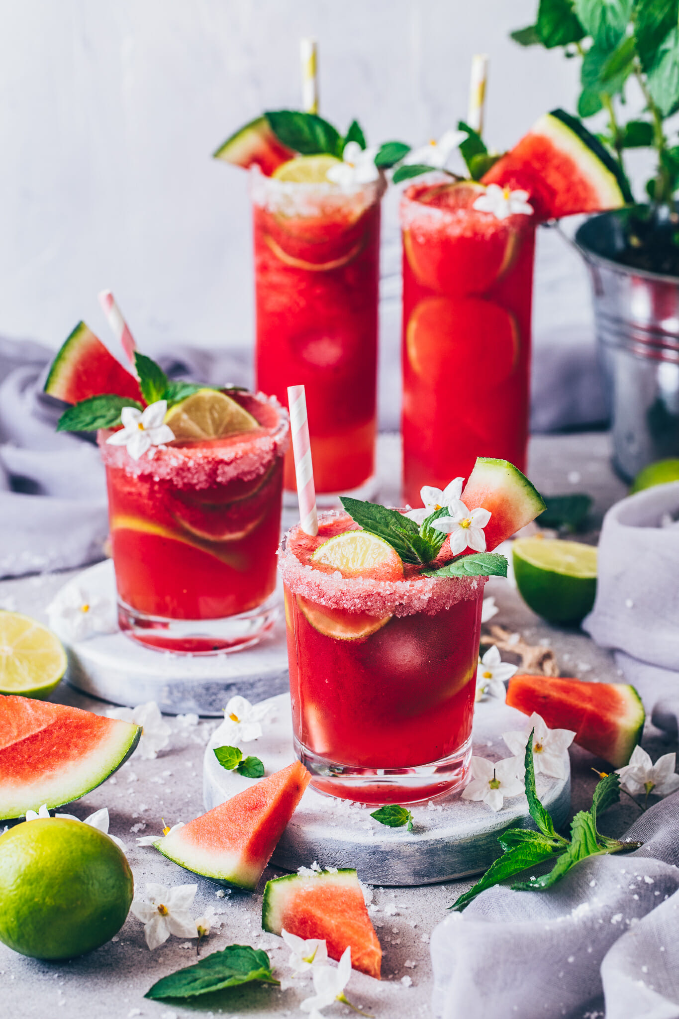Wassermelonen Margarita Mojito (Food Fotografie, Food Styling)