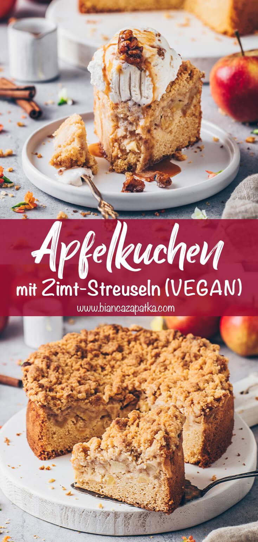 Veganer Apfelkuchen mit Zimt-Streuseln