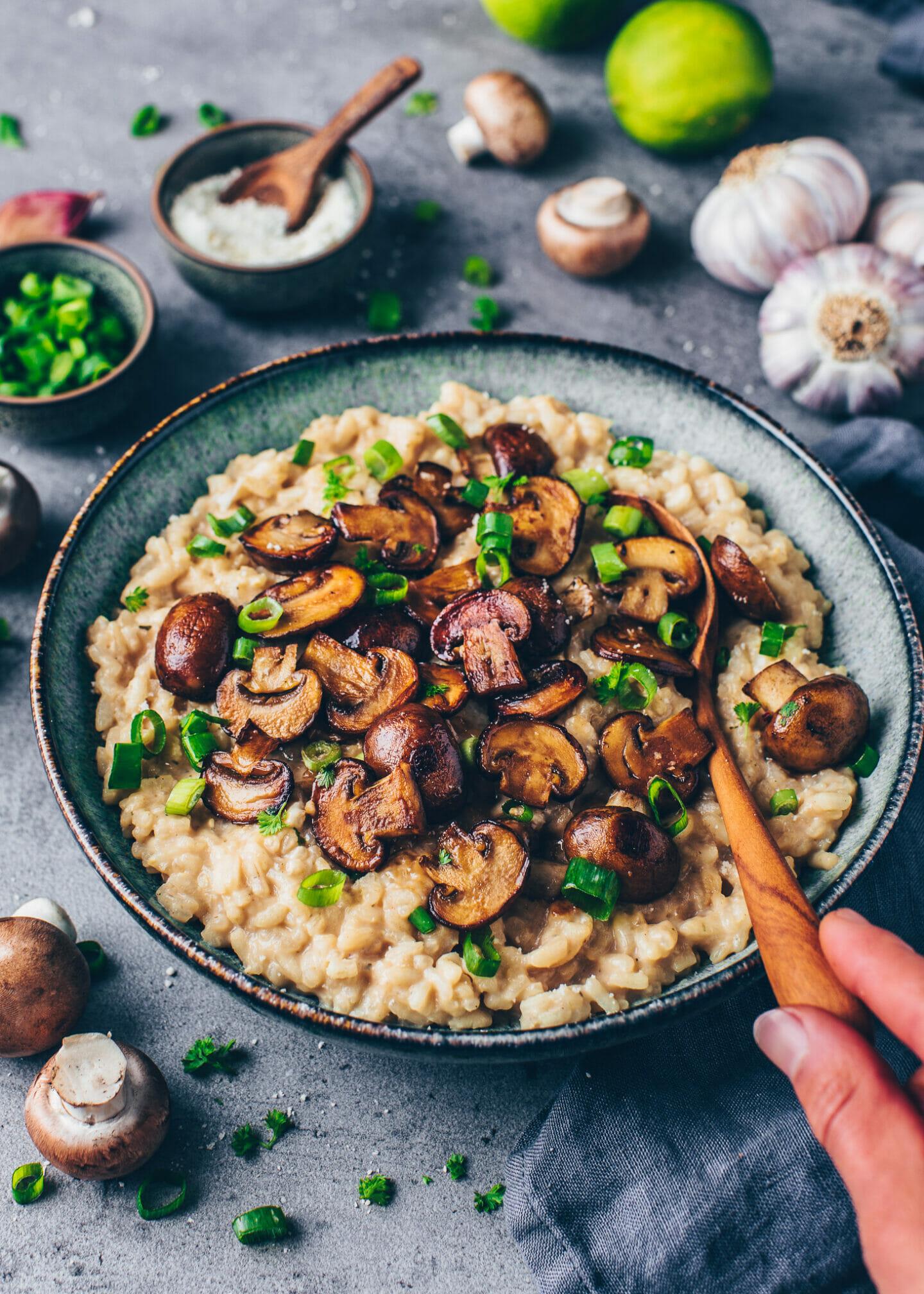Creamy Mushroom Risotto Best Vegan Recipe Bianca Zapatka Rezepte