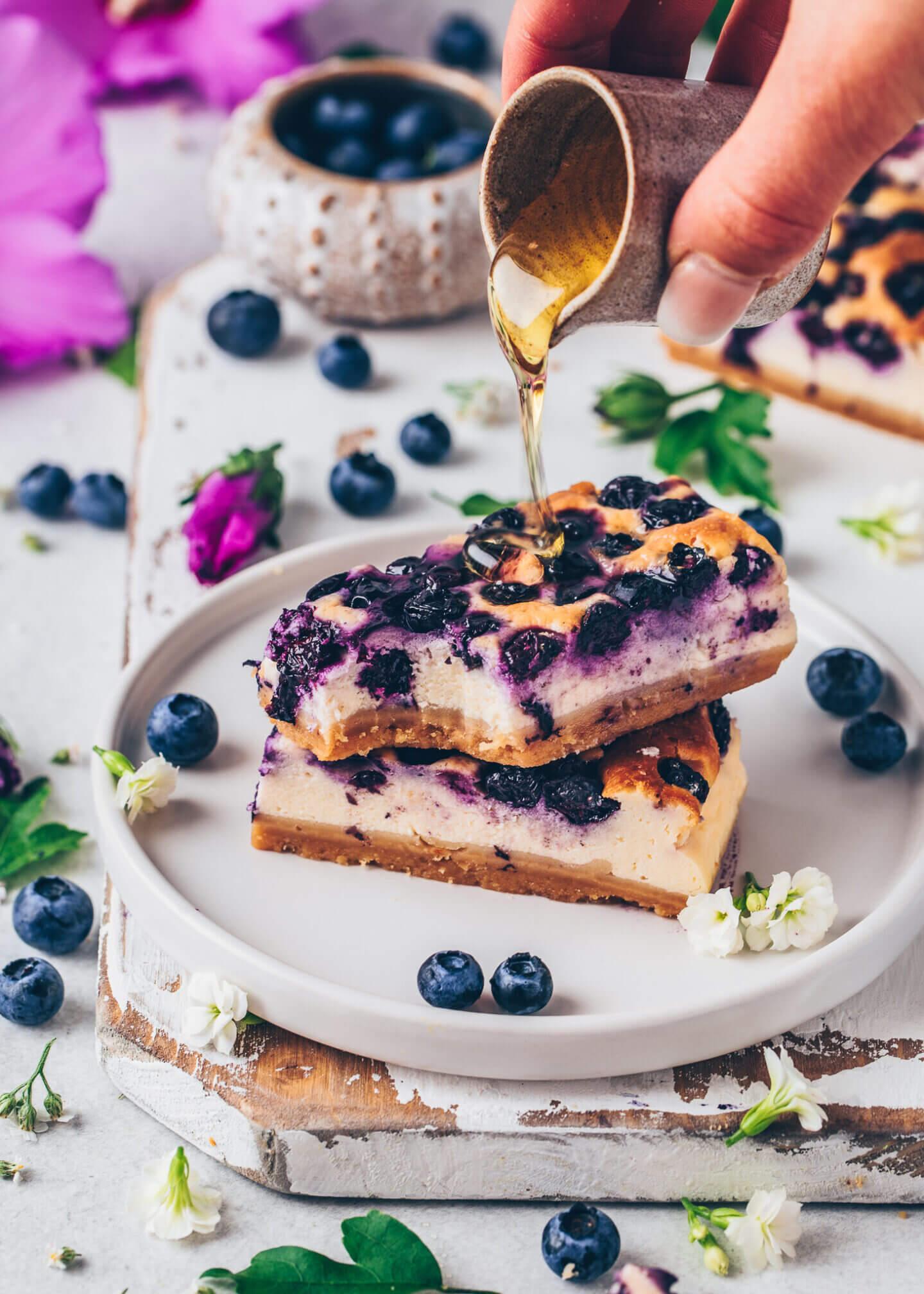Blueberry New York Cheesecake Bars