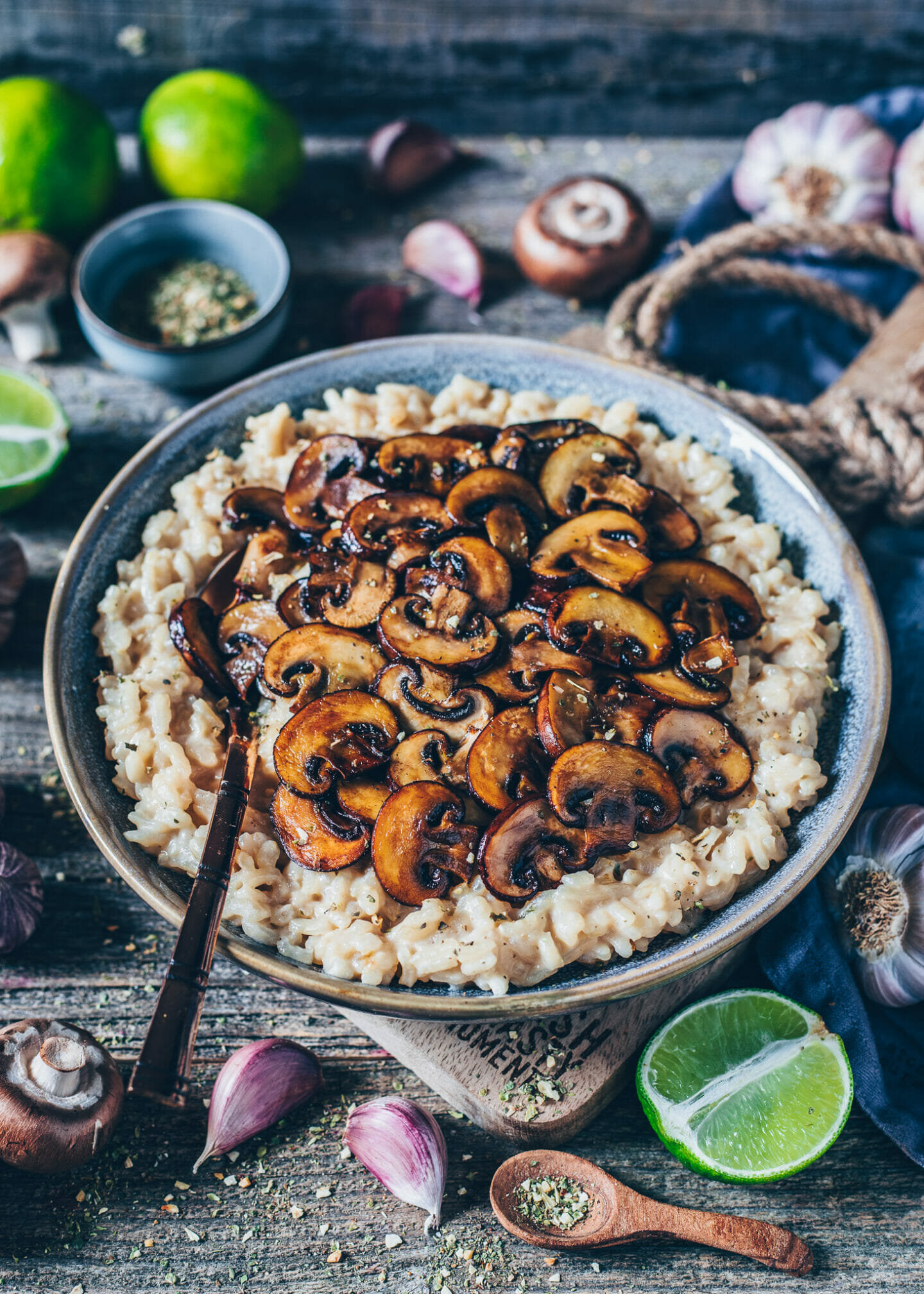 Cremiges Pilz-Risotto