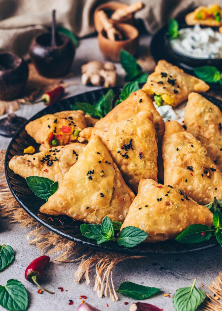 Crispy Samosas (Vegan Indian Snack)