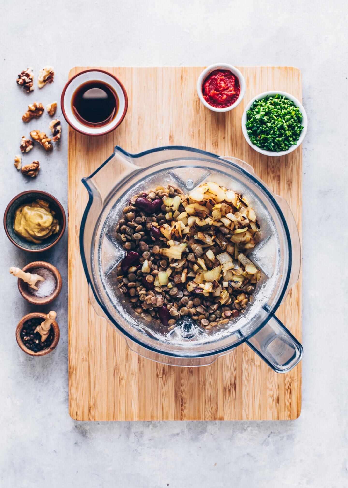 Vegan Meatloaf mixture with Lentils