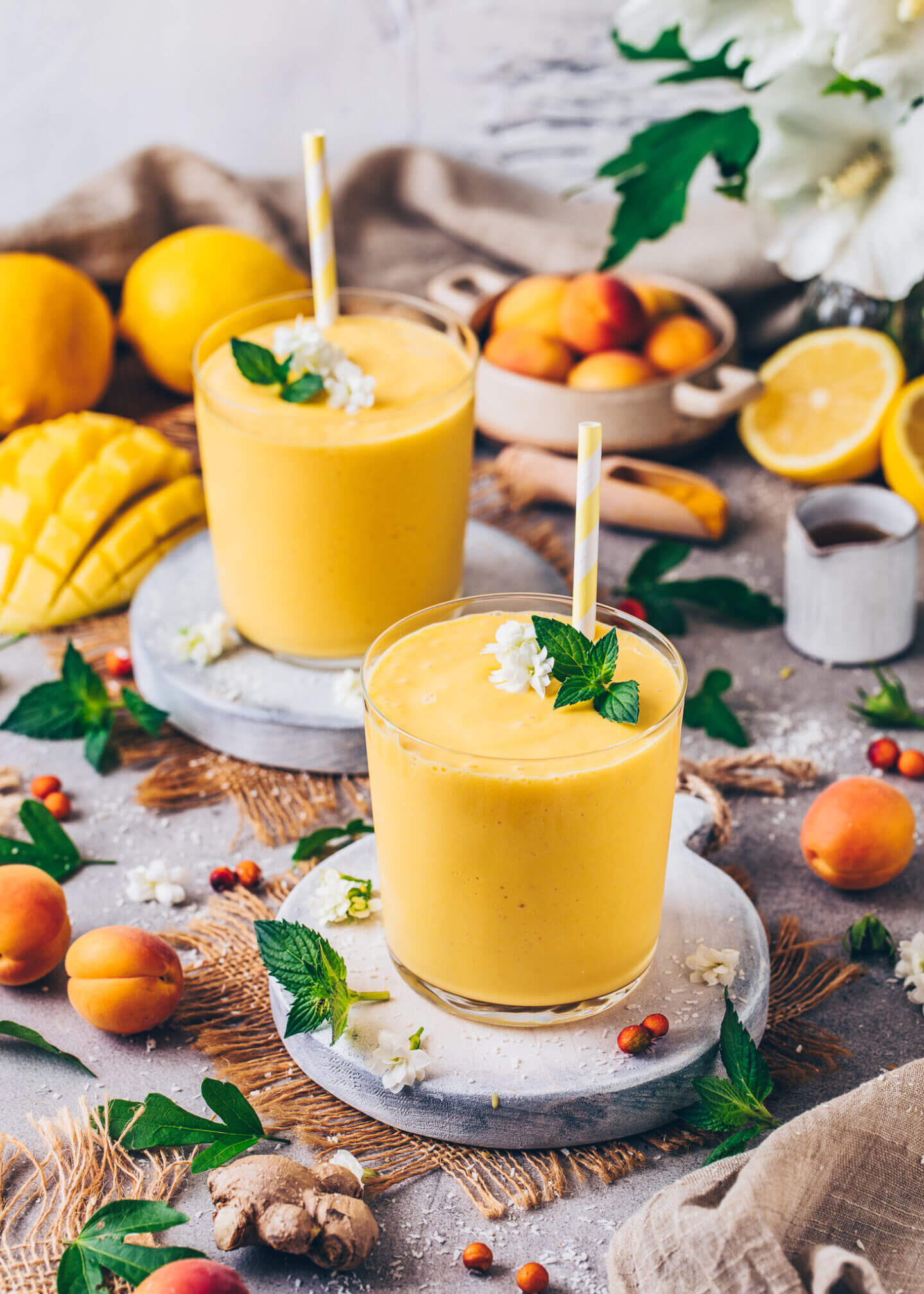 Indian Mango Lassi Smoothie Drink