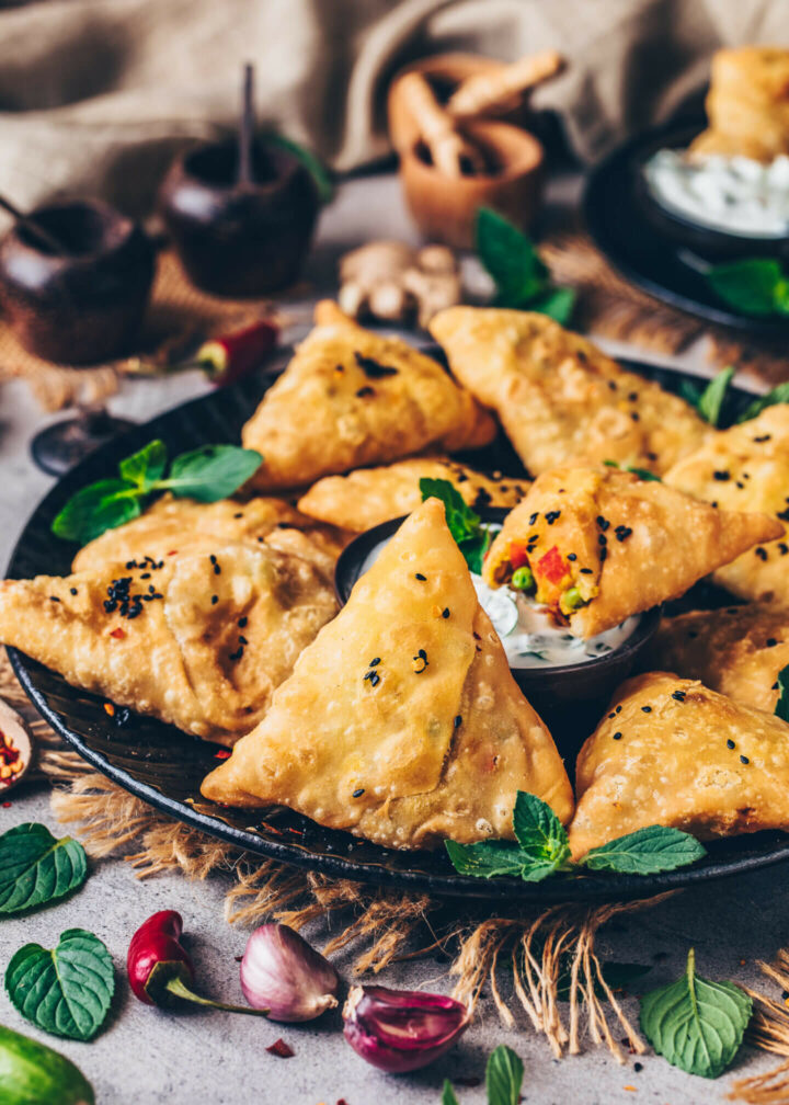 Indian Samosas (Crispy Vegan Snack)