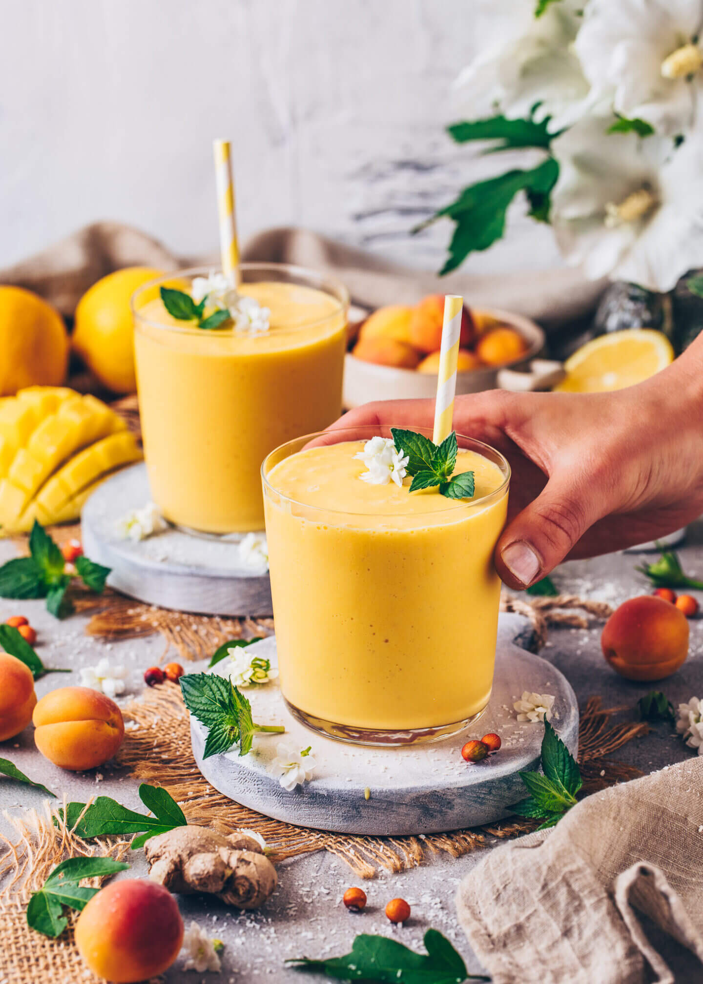 Mango Lassi (Veganer Joghurt Drink)