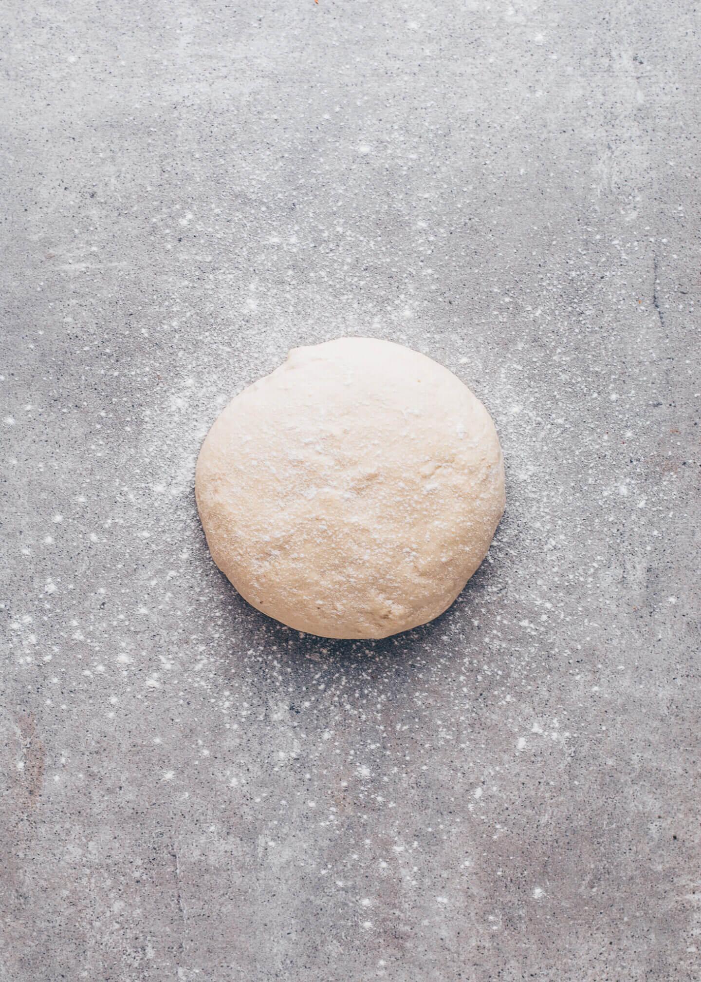Pizza flatbread yeast dough
