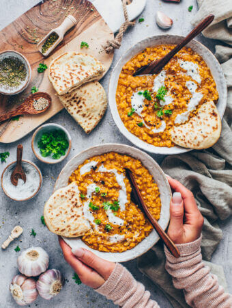 Indian Red Lentil Dahl (food photography)