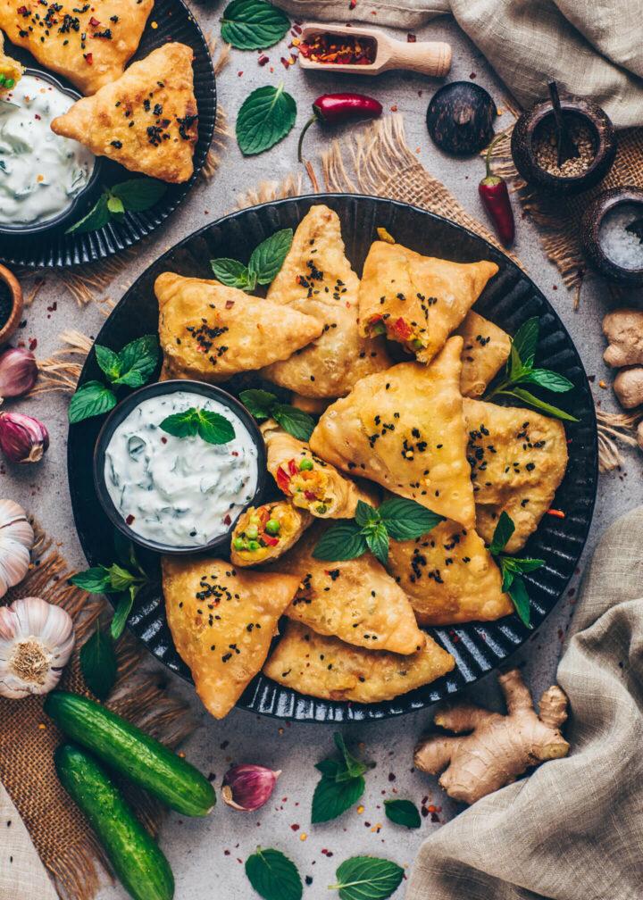 Vegan Crispy Indian Punjabi Samosa