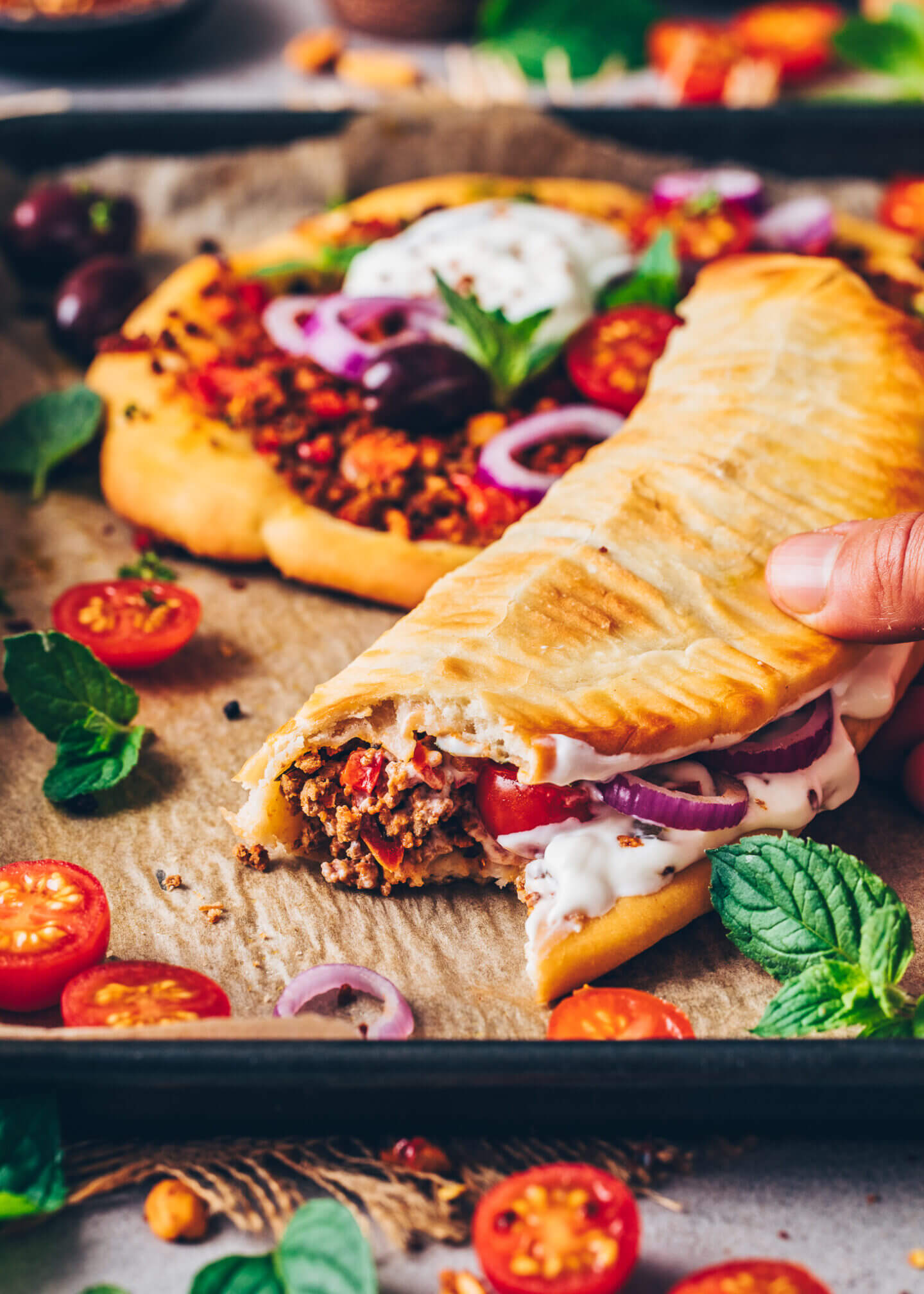 Lahmacun, Kebab, Döner, Türkische Pizza