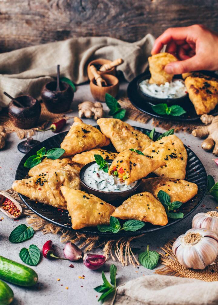Vegan Samosas (Indian Punjabi)