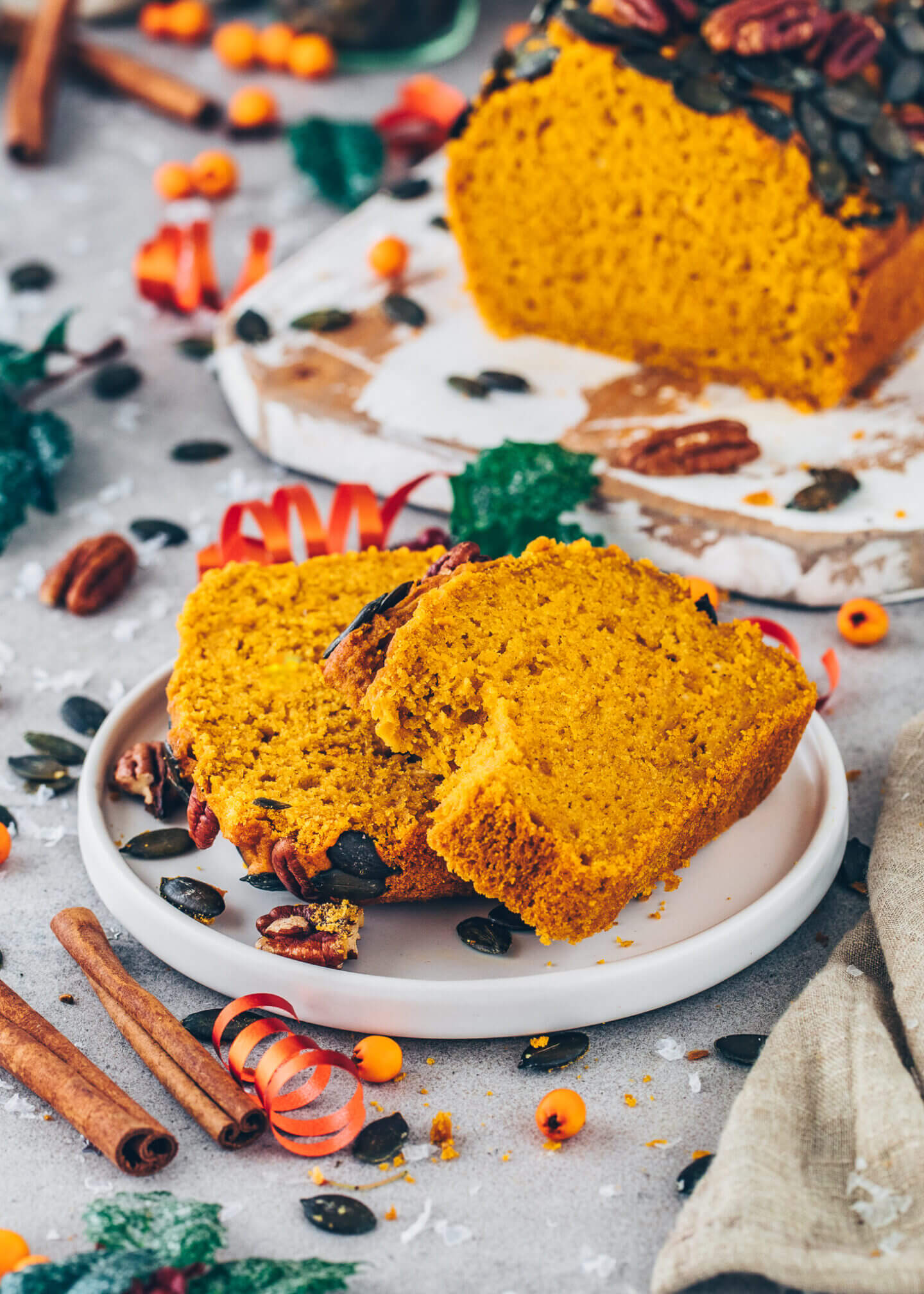 Easy Vegan Pumpkin Bread (soft, fluffy, moist)