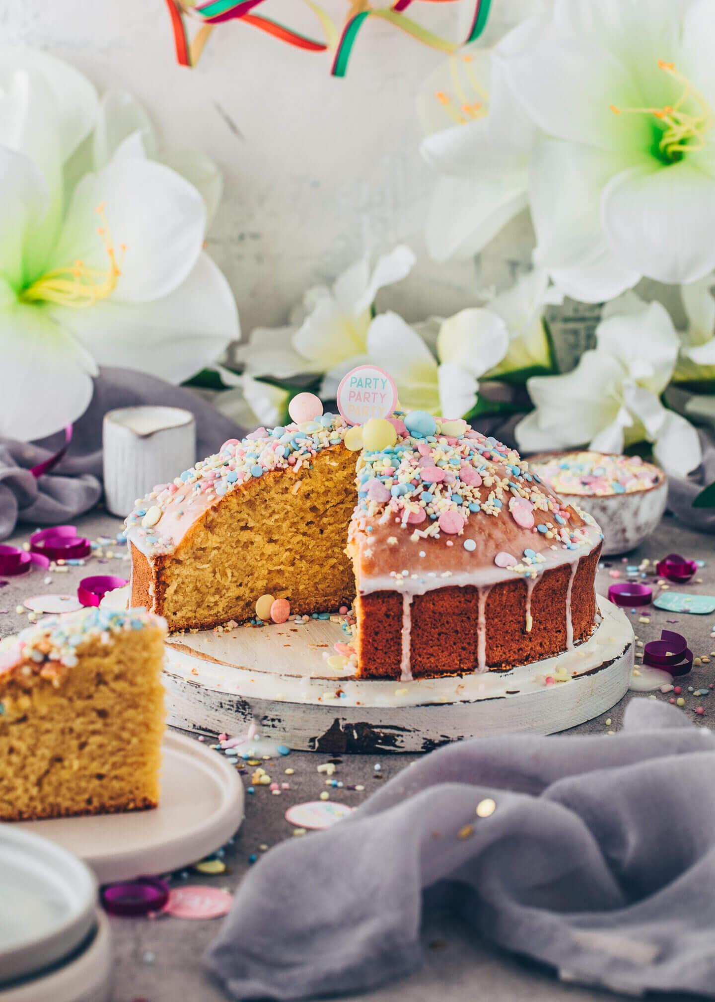 Fantakuchen (Veganer Konfetti-Kuchen)