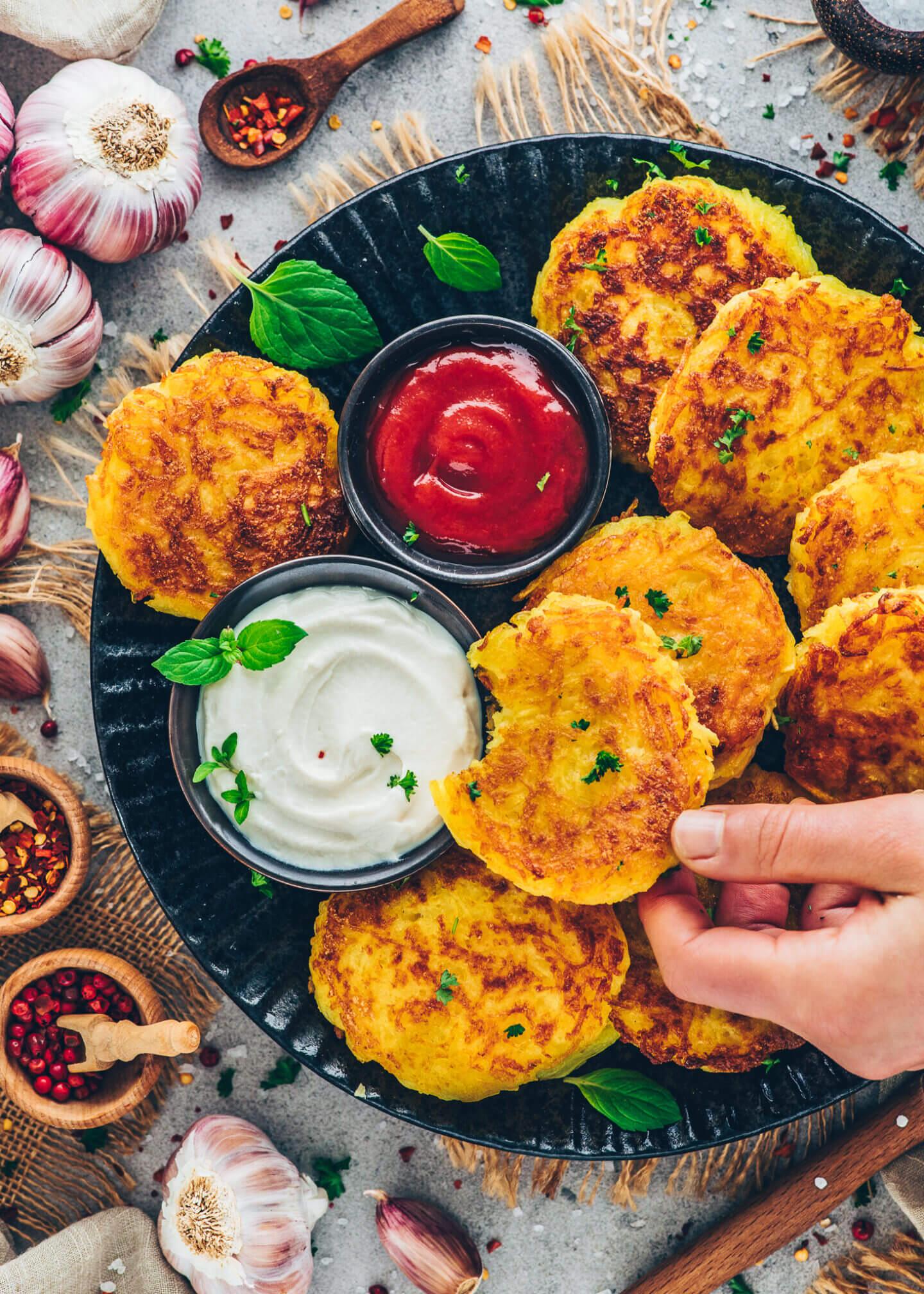 Knusprige Kartoffelpuffer (Rösti)