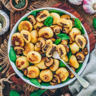 Mushroom Stuffed Potato Dumplings
