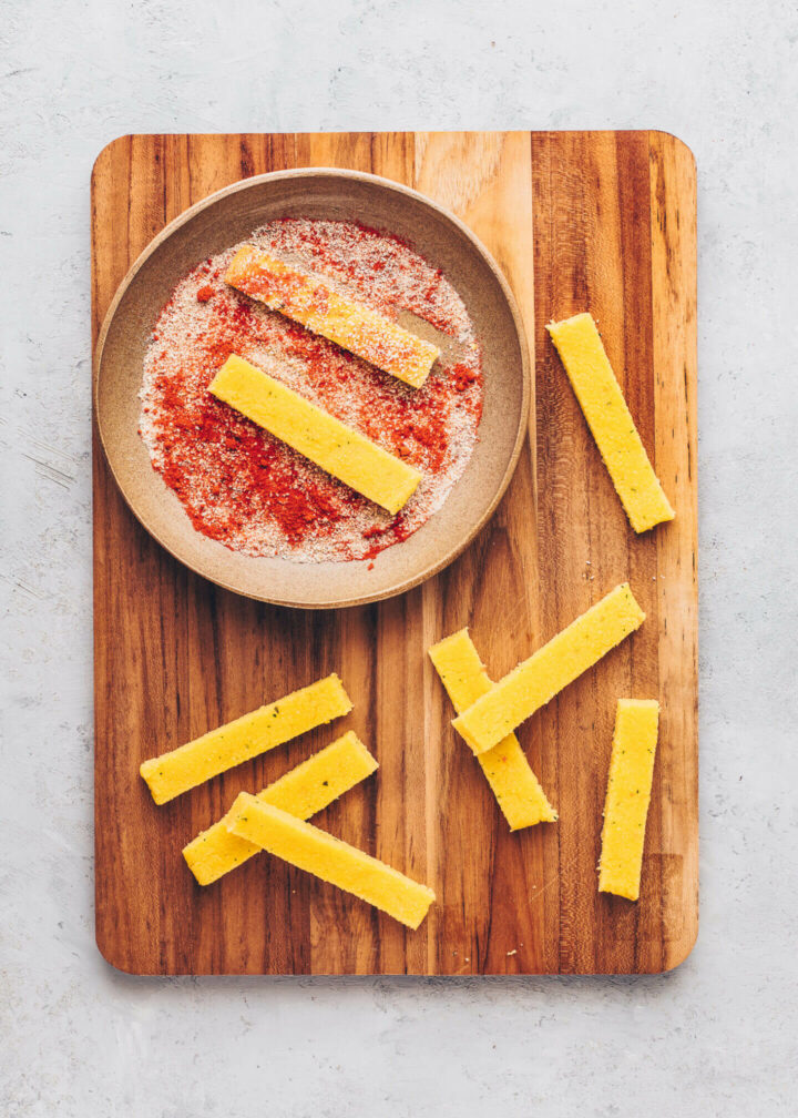 How to make Polenta Fries step by step